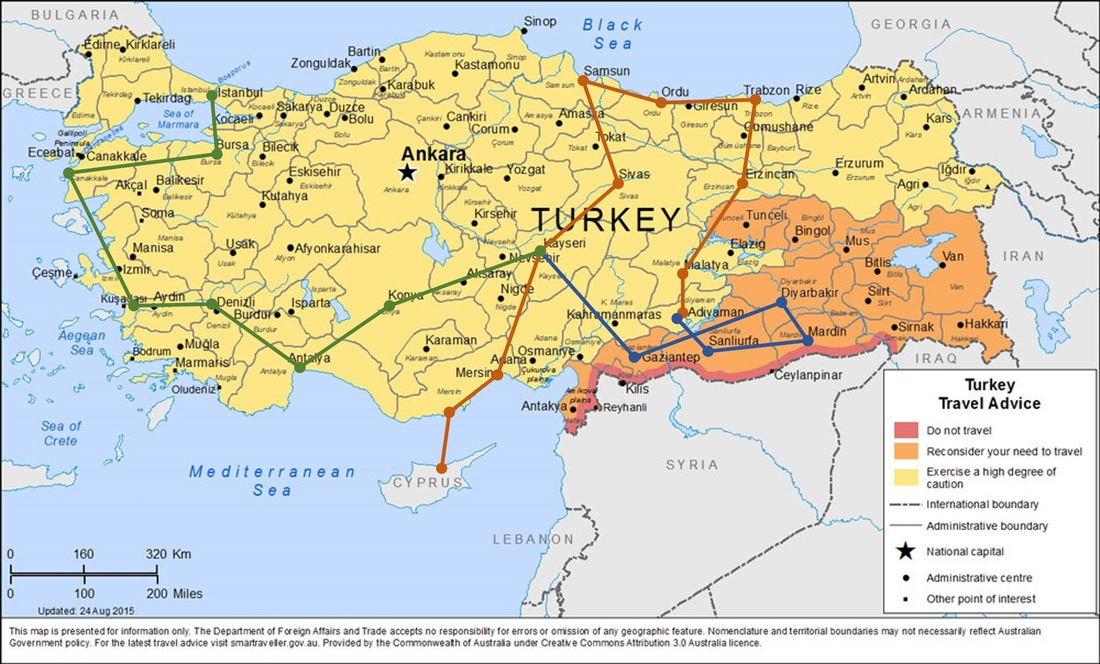 TREADING LIGHTLY THROUGH TURKEY The Silk Odyssey – Odyssey Travel Map